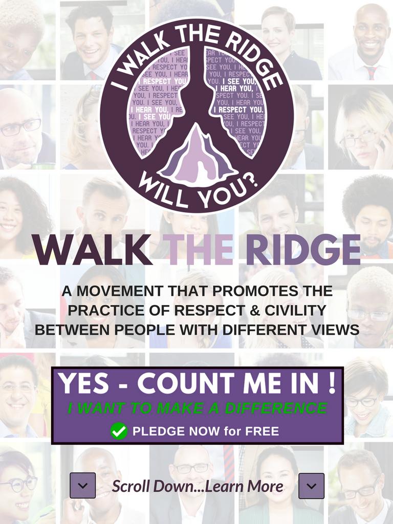 Pledge to Walk The Ridge